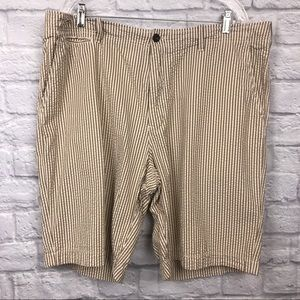 J. Crew Seersucker Field Shorts Brown Sz 40 233.79